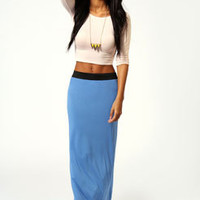 Helena Contrast Waistband Maxi Skirt