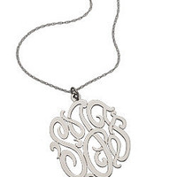 Max &amp; Chloe - West Avenue Jewelry Monogram Pendant - Max &amp; Chloe