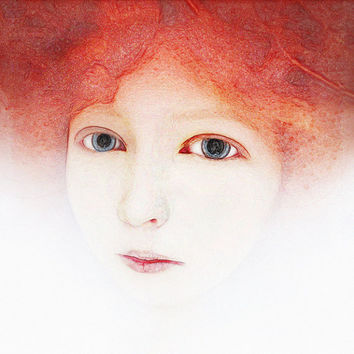 Ethereal Portrait  Woman Portrait  Woman Photography Dreamy White Red