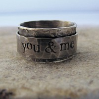 Rustic Spinner Ring personalized by tinahdee on Etsy