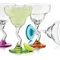 Amazon.com: Libbey Colors Margarita Glass Set, 4-Piece: Kitchen & Dining