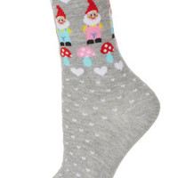 Grey Garden Gnome Ankle Socks - Tights & Socks  - Clothing