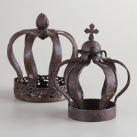 Small Metal Crown Decor, Set of 2