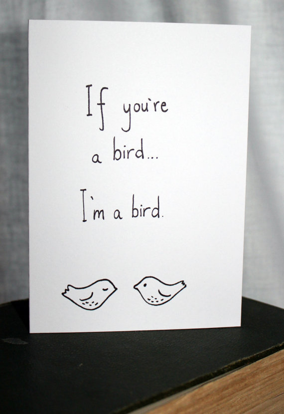 If you're a bird I'm a bird  The Notebook by smuttydraws on Etsy