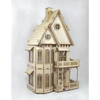 Gingerbread Victorian Dollhouse kit Heart by JourneyProductions