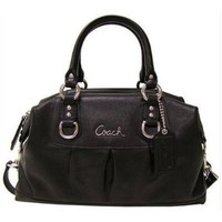 # Coach 15445BK Ashley Black Leather Satchel F15445 Bag