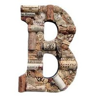 The Country Barrel  Customized Wine Cork Letter B - Large Size - We Have EVERY Letter