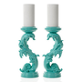 Z Gallerie - Draper Pillar Holder - Aquamarine