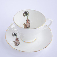 Ali Miller London — tea cup and saucer - band lady