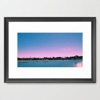 Beach Livin Framed Art Print by Aja Maile | Society6