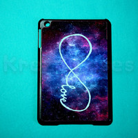 iPad mini case -  Forever love - infinity Nebula cover for iPad mini