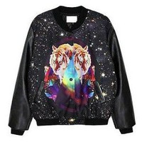 Galaxy Tiger Print Coat