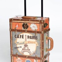 Leatherette Paris Suitcase