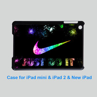 JUST DO IT - iPad mini case, iPad 2 case, New iPad case in black or white for choice