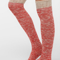 Urban Outfitters - Spacedye Ruffle-Cuff Over-The-Knee Sock