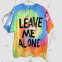 leave ME ALONE TIE die T shirt L
