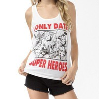 I Only Date Super Heroes Tank | FOREVER 21 - 2017306538