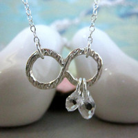 Infiniti sterling silver Swarovski crystal necklace