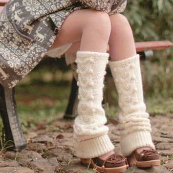 Sale - Cream Wool Dotted by OurSunshine