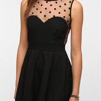Coincidence & Chance Crepe Mesh Dot Dress