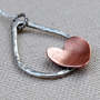 Sterling Silver and Copper Necklace Heart in a by lovestrucksoul