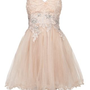 New Look Mobile | Chi Chi Cream Rose Embroidered Prom Dress