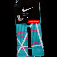 Thesockgame.com — South Beach Lines - Custom Nike Elite Socks - Inspired by Nike LeBron 10 shoes