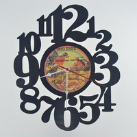 Handmade Vinyl Record Wall Clock (artist is England Dan & John Ford Coley)