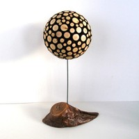 Small Rustic Orb with Willow Stand