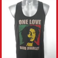BOB MARLEY   Singlet  Tank Top  Reggae Music T shirt by 99rockshop