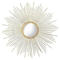 Metal Sunburst Mirror - Gold