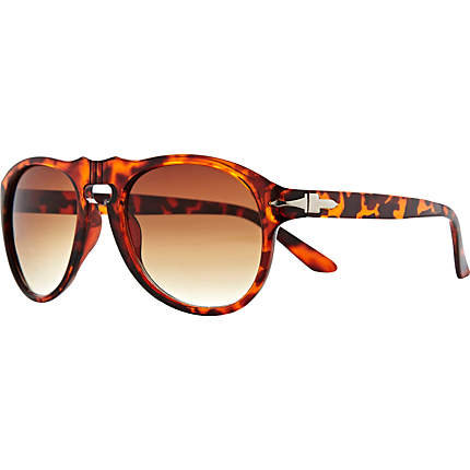 Brown print Jeepers Peepers visor sunglasses