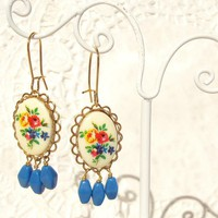 Raindrops - Vintage Floral Earrings | Luulla