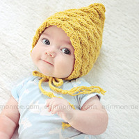 $22.00 READY TO SHIP Practical bonnet hat for a newborn  by zoik