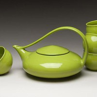 Classic Tea in Tequila Lime by Judith Weber: Ceramic Teapot - Artful Home