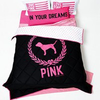 Reversible Comforter - PINK - Victoria&#x27;s Secret