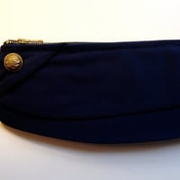 Military Clutch Navy Blue Vintage Garrison by FritzandFraulein