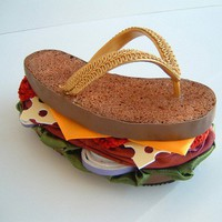 Brisket Flip Flop by SoleSensations on Etsy