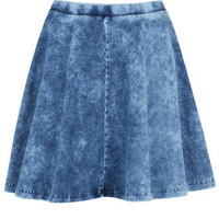 Stonewash Denim Skater Skirt - New In This Week  - New In