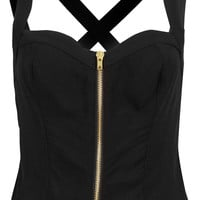 Zip Front Sun Top - Tops - Clothing - Topshop