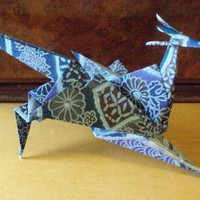 Indigo Patchwork Dragon by trinlayk on Zibbet