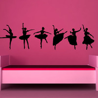Graceful Ballerinas Vinyl Wall Art Decals by VinylWallAccents