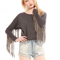 Fringe Back Pullover - Tops - Clothes | GYPSY WARRIOR