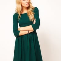 ASOS Skater Dress With Slash Neck