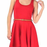 Red Mini Dress - Rosy Red Delight Tank Dress | UsTrendy