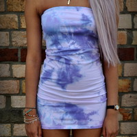 Cryptic Cult  Tie dye bandeau dress