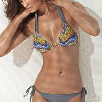 Fabulous Halter  Super Fly Bottom - Tesserae/Grey - L*Space - Swimwear