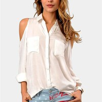 Open Book Buttondown - Ivory