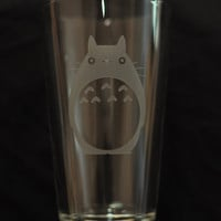 Totoro anime pint glass by DrinkingWithFriends on Etsy