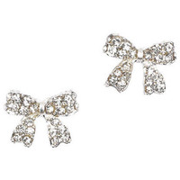 Mini Pave Bow Earrings
